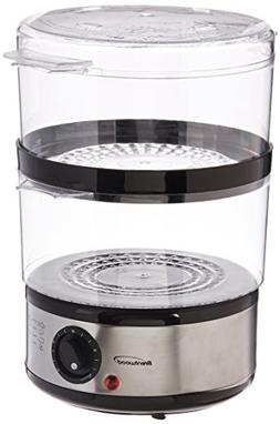 Brentwood TS-1005 Electric Food Steamer, Silver