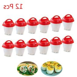 6/12 Pcs Egg Cooker Egglets Haird Boiled Without Shell Eggs