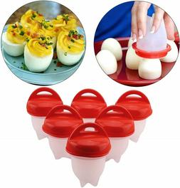 6 Pack Boiled Egg Maker Egg Poachers Cooker Without Shell Si