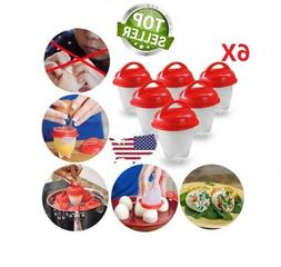 6pcs Eggs Cooker Hard Boiled Egg with no Shell Eggies -- As