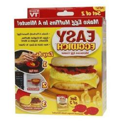 Toysdone Easy Eggwich Cooking Tool Microwave Cheese Egg Cook