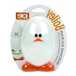 Joie Boiley White and Orange Microwave Egg Boiler Electric E