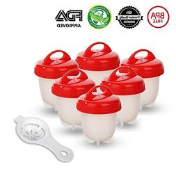 Egg cooker Cook Hard and Soft Maker, No Shell, Non Stick Sil