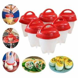 Egg Cooker Hard Boiled Eggs without Shell 6 pcs Eggies Silic