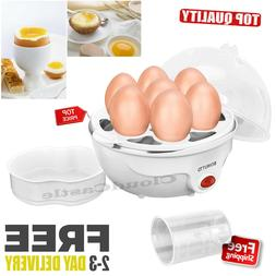 Electric Egg Cooker Automatic Poacher 7 Eggs Capacity Hard B
