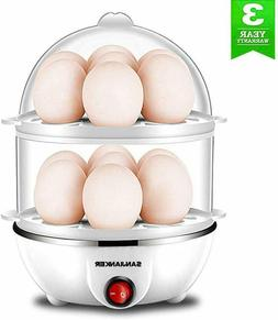 ELECTRIC EGG COOKER Big Capacity Double Layer Boil Auto Shut