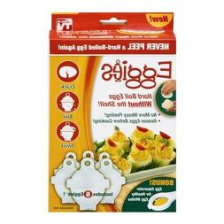 EGGIES HARD BOILED EGG COOKER W/ 6 COOKERS & BONUS EGG SEPAR