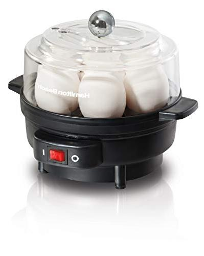 Hamilton Egg Cooker with Timer and Tray Black