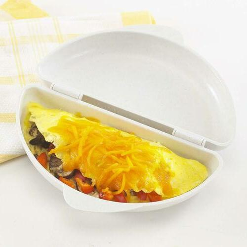 Microwave Omelet Pan Maker Microwavable Cooker US