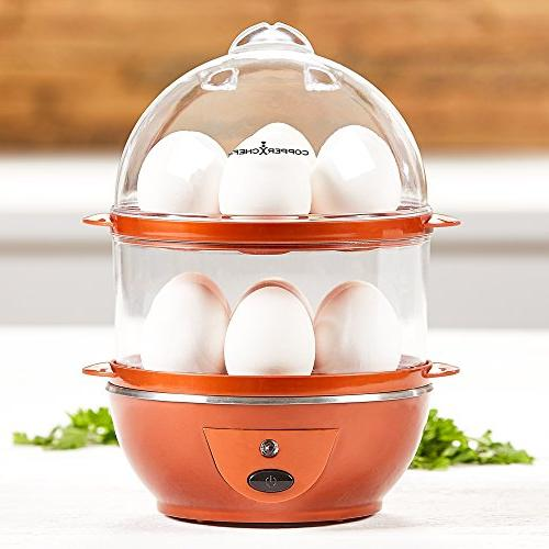 Copper Chef Secret Making Perfect C or 14 Capacity. Boiled, Poached, Scrambled Eggs, or Off, x inches,