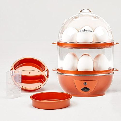 Copper Secret Making C Electric or Boiled, Poached, or Omelets Automatic Off, 7.5 6.7 x 7.5 inches,
