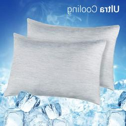LUXEAR Cooling Pillowcase, 2 Pack Cooling Pillow Cover with