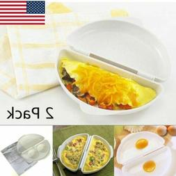 Norpro Microwave Omelet Maker Pan Oven Two Eggs Mold Cooker