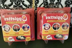 TWO Pack Egglettes Silicone Egg Cooker Hard Soft Boiled Eggs